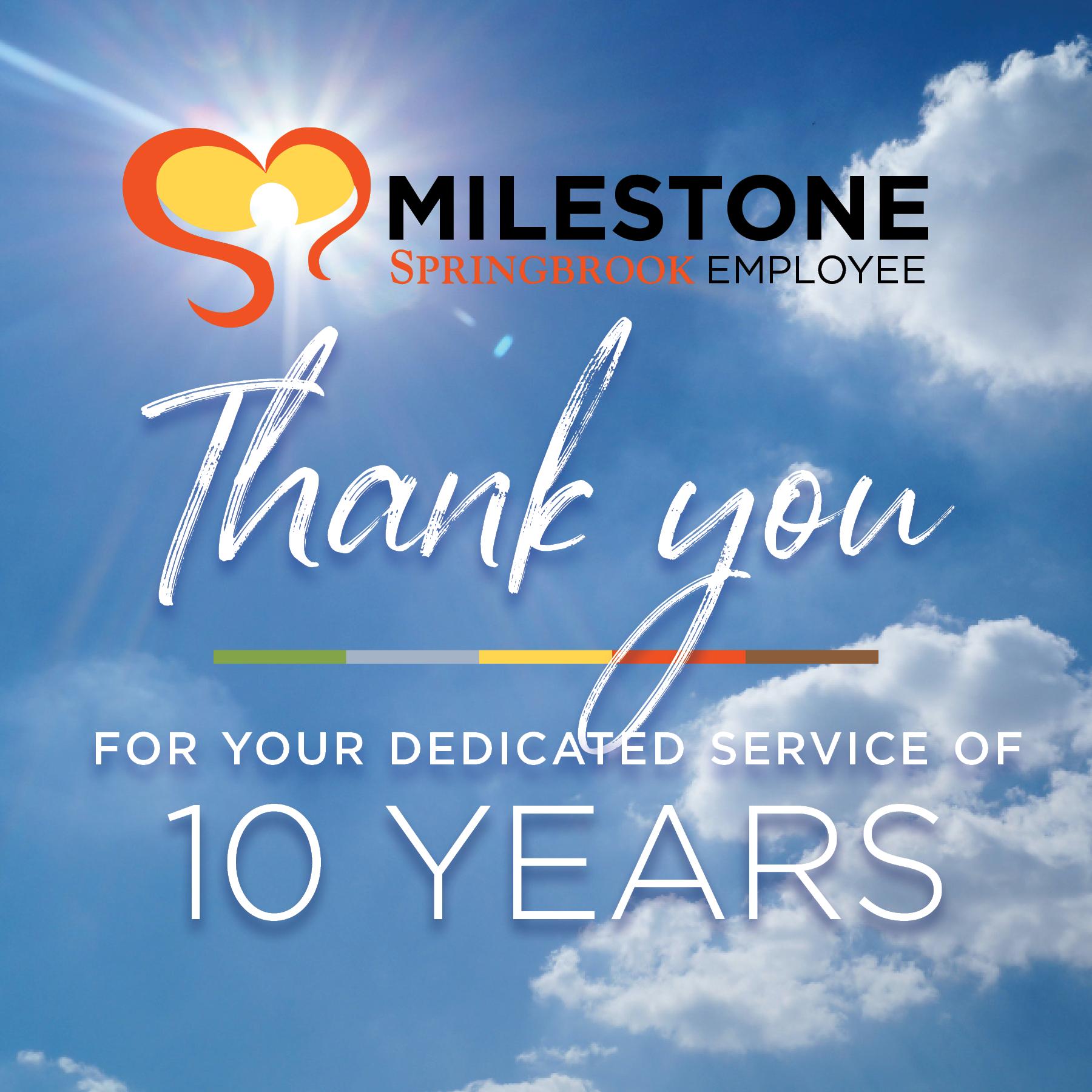10yr MilestoneSocial - 10 and 15 Year Milestones