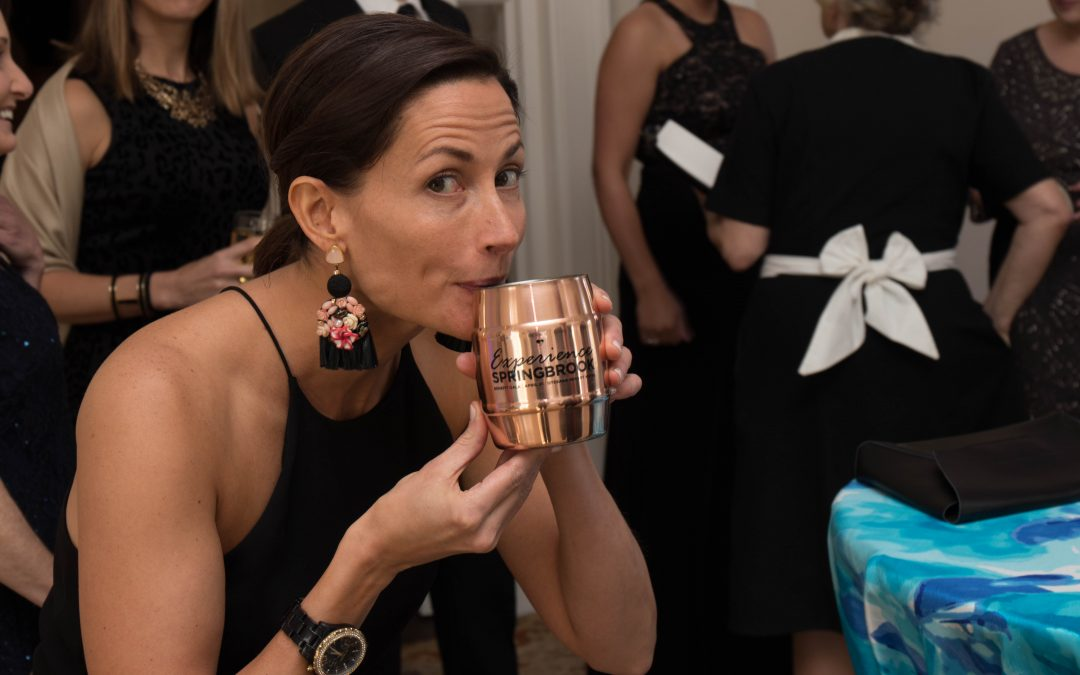 Stacey Gracey sips a Springbrook Mule