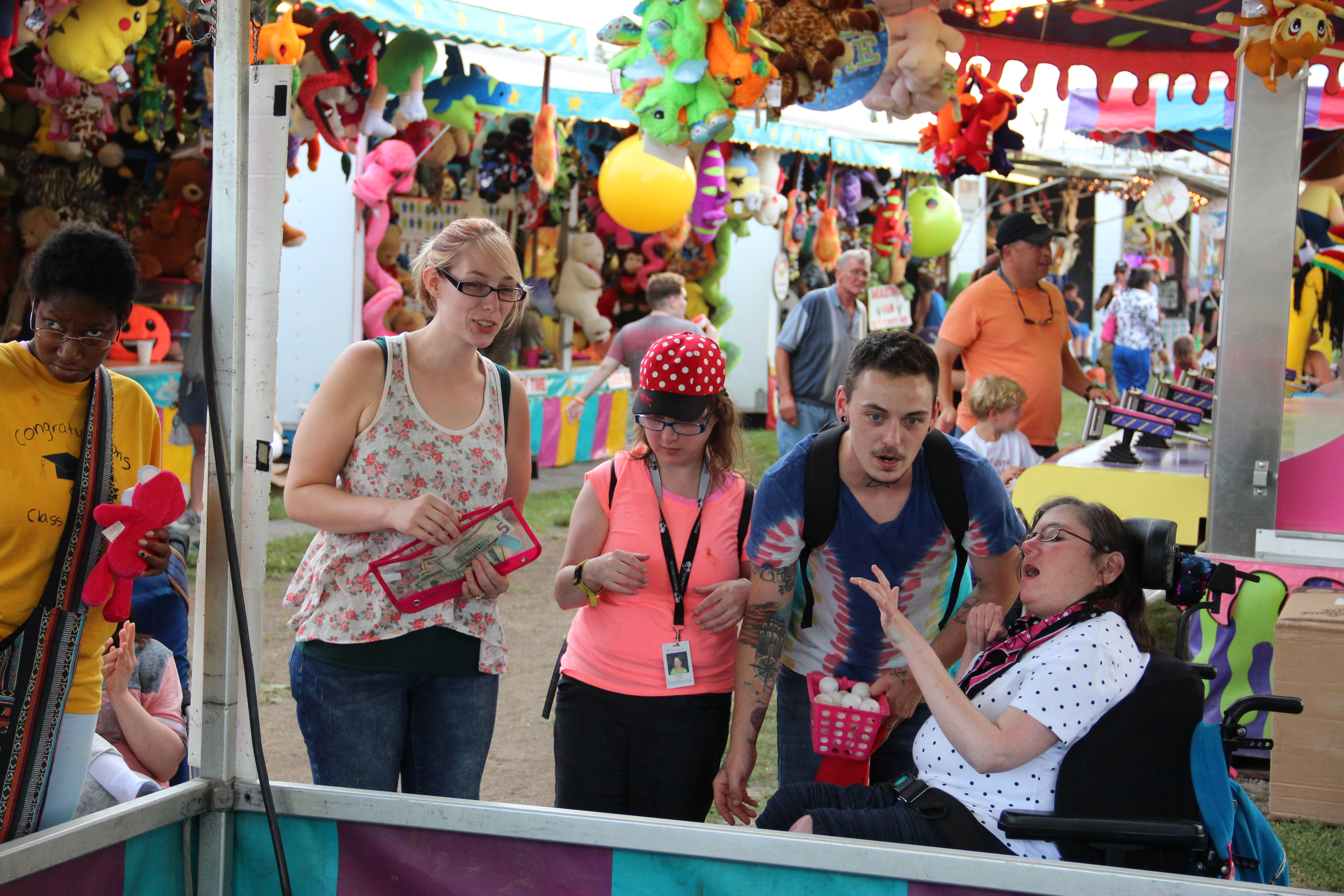 Residents and Staff from Broad St IRA at the 2019 Otsego County Fair