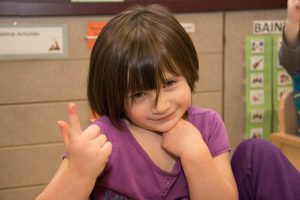 young girl at Kids Unlimited Preschool
