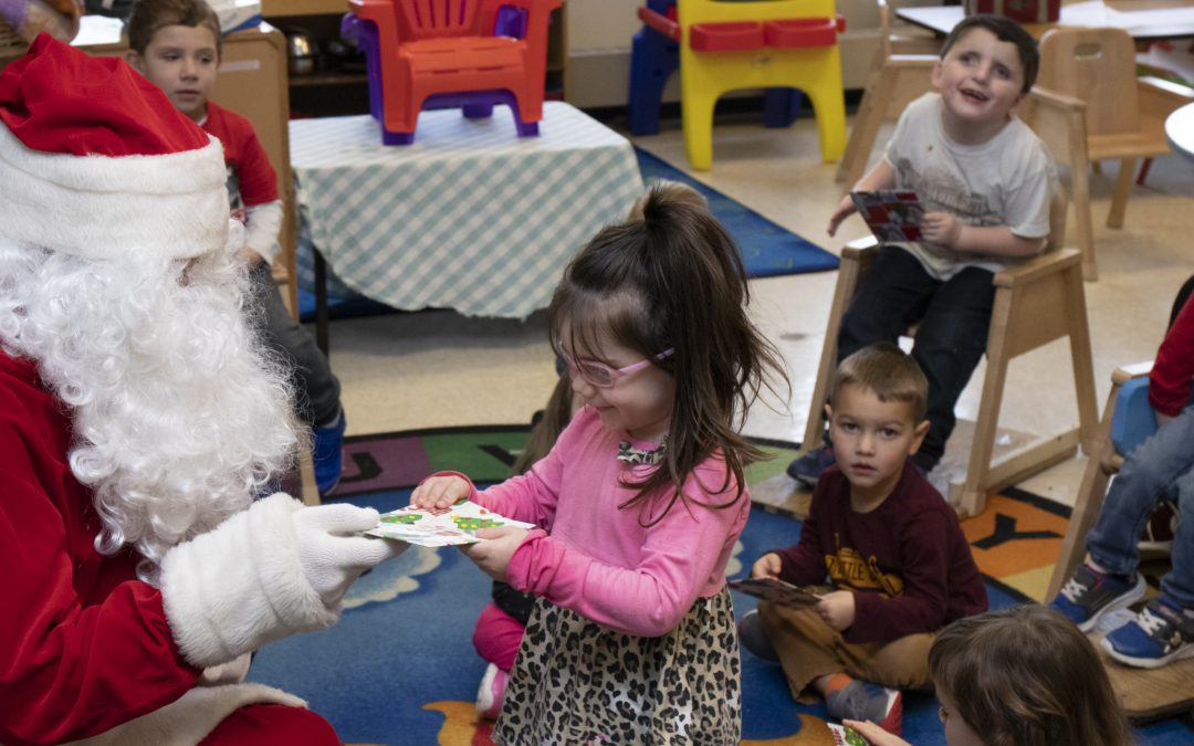 Santa Visits Kids Unlimited Preschool