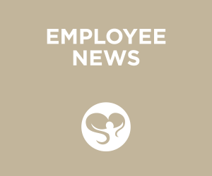 Tan Colored Title Card for Employee News