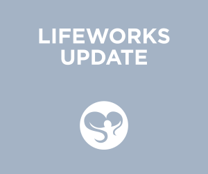 Blue Colored Title Card for Lifeworks Update