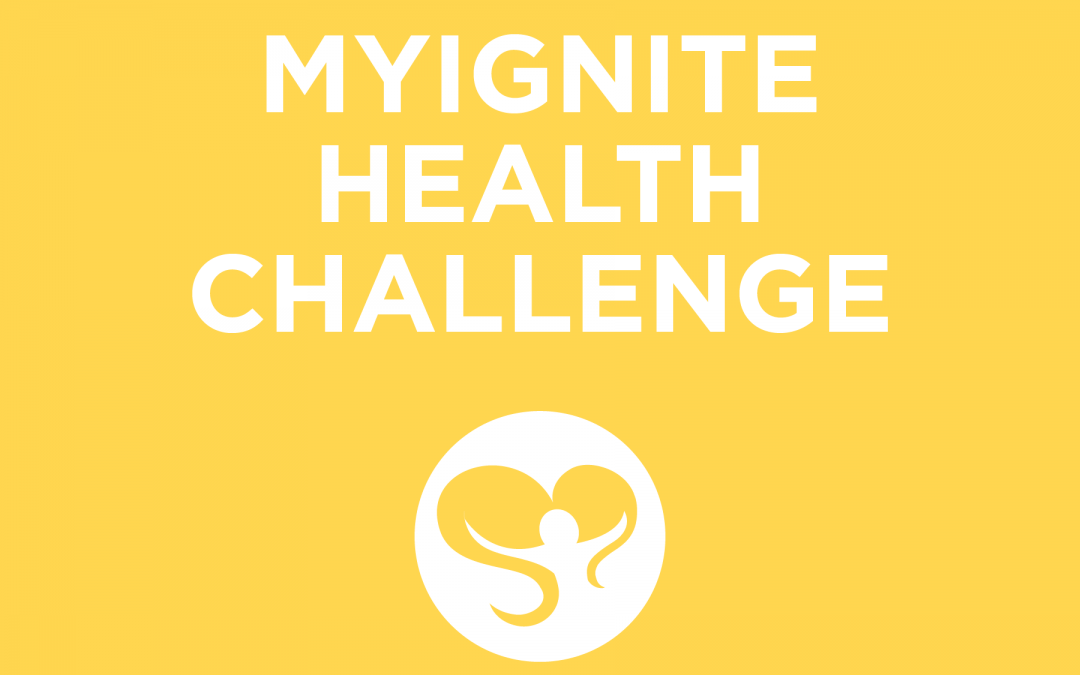 Yellow Colored Title Card for MyIgnite Health Challenge