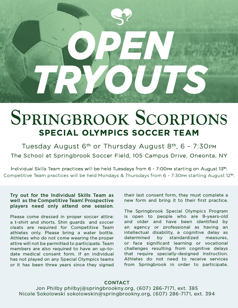 2019.SoccerForWeb.Athletics - Springbrook Scorpions Soccer Tryouts