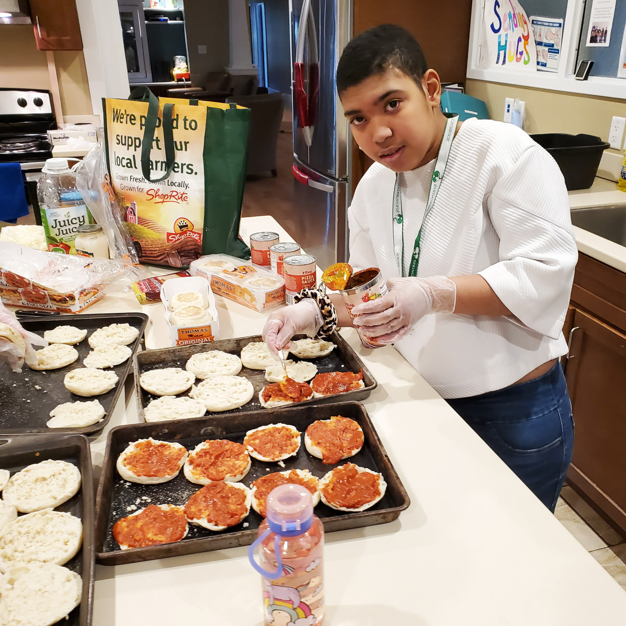 English Muffing Pizzas for Challenge - What's Cookin'? - Meditation Monday