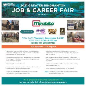JobFair 2021Sept Flyer Seekers v2 1024x1024 1 300x300 - Take A Look Tuesday - 2021 Greater Binghamton Job & Career Fair