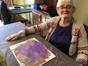 Patty Painting 300x225 - Wellness Wednesday – National Senior Health & Fitness Day
