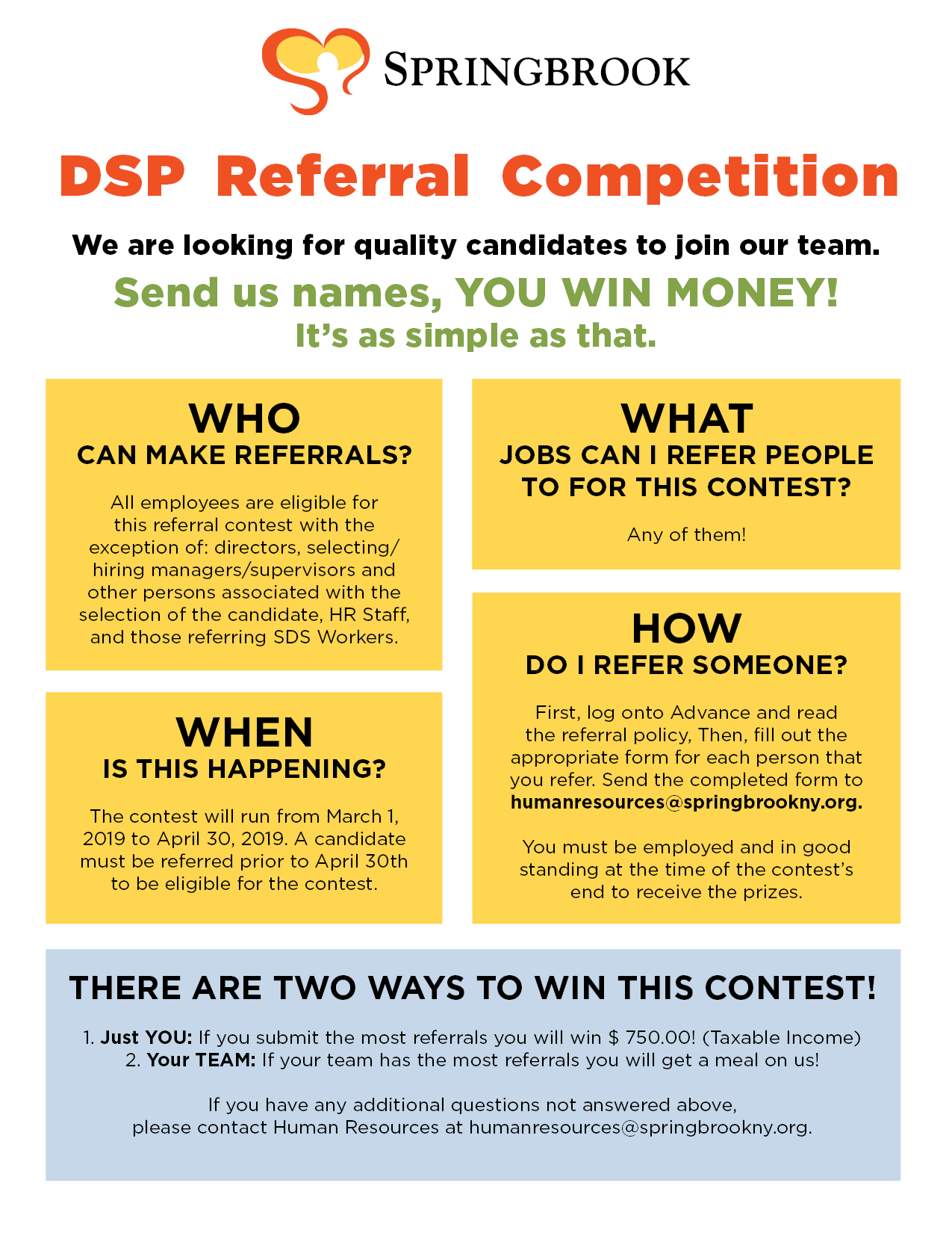 SP19 DSP Referral Contest - DSP Referral Competition
