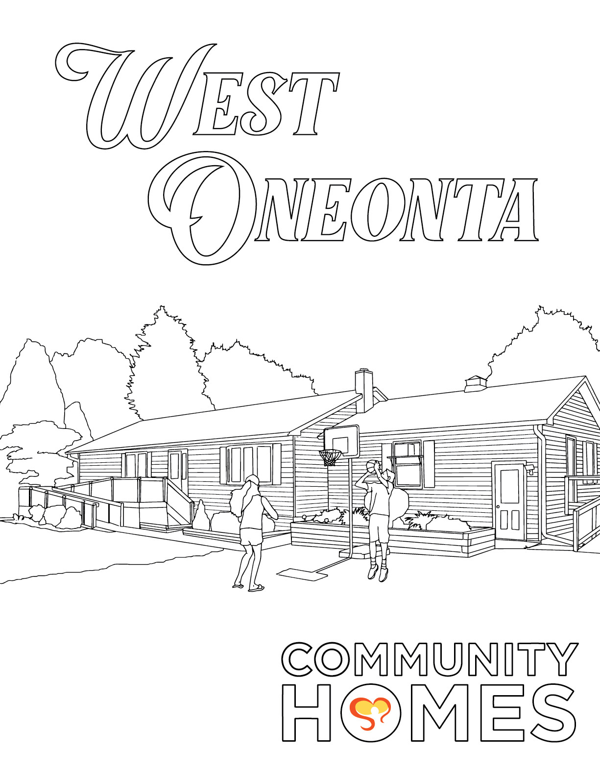 West Oneonta - The Pines, Walnut, and West Oneonta - Fun Art Friday